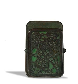 Tiffany Studios, Bronze and Glass Paper Clip