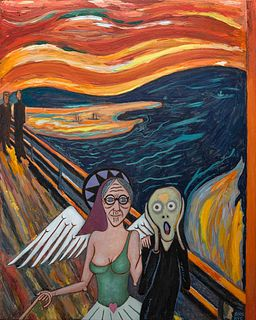 Michael Andryc, Angel Babka Silencing the Scream (After Edvard Munch)