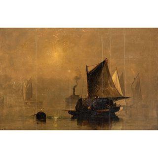A European Harbor Scene