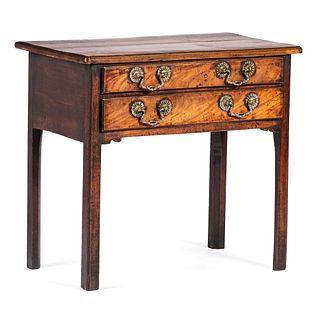 A George II Walnut Low Boy Dressing Table