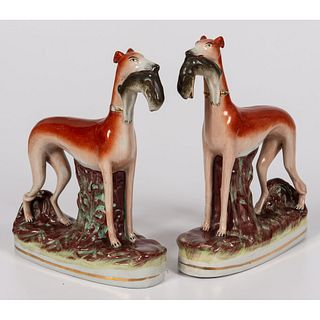 A Pair of Staffordshire Whippets