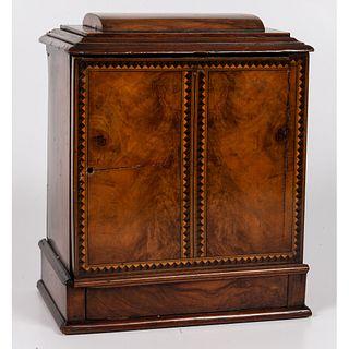 An Inlaid Burlwood Display Box