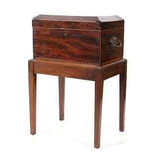 An Inlaid Sewing Box on Stand