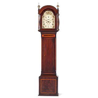 An English Mahogany Tall Case Clock by Charles Frankcom