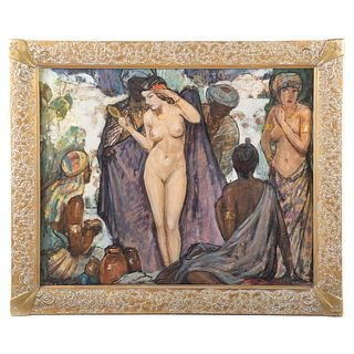 Attrib. to Wladyslaw T. Benda. Orientalist Scene