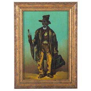 William Aiken Walker. Old Traveler, oil on board
