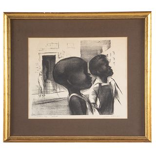 "John Wilson. ""Urbanites,"" lithograph"