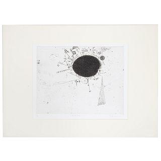 "Ronald Markman. ""The Big Cloud,"" etching"