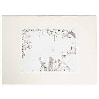 "Ronald Markman. ""American Landscape,"" etching"