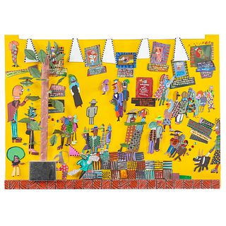 "Ronald Markman. ""Art Show at Art Shoppe,"" mixed"