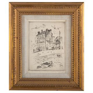 "John Marin. ""Old House Near Pont Nationale, Paris"""