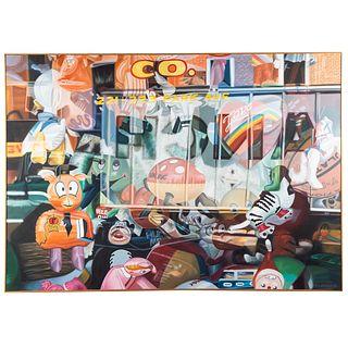 Richard A. Niewerth. Toy Store Window, oil