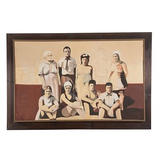 Manner of Molly Dee. Family Portrait, oil