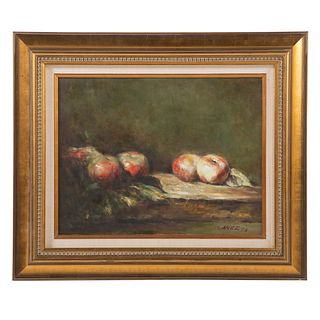 Canez. Still Life with Apples, oil