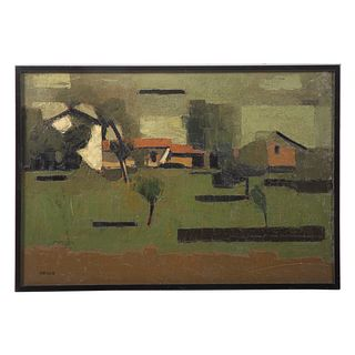 Roland Bierge. Abstract Landscape, oil