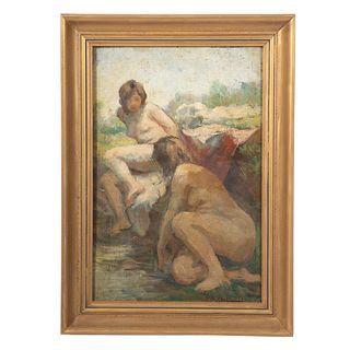 Ivanka Bukovac. Female Nudes, oil