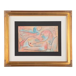 """Paul Klee. """"Sommeil d'Hiver,"""" color lithograph"""