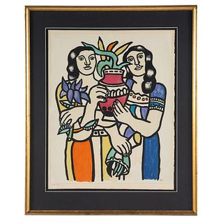"Fernand Leger. ""Two Women Holding a Vase,"" litho"