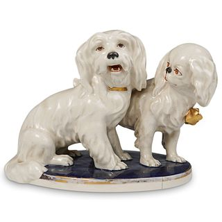 Royal Dux Porcelain Dog Figurine