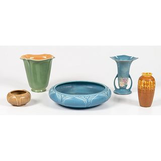A Group of Rookwood Pottery and Roseville Production Ware