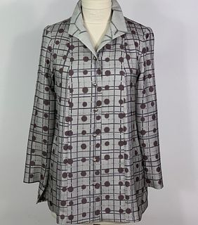 Grey Grid with Dots Tunic
