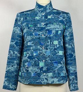 Turquoise Grid Jacket