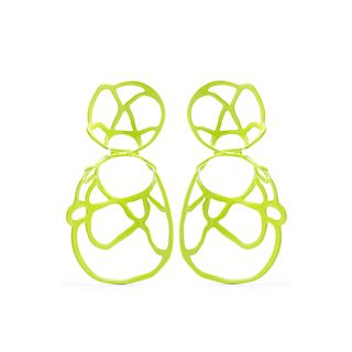 Double Lace Earring, Chartreuse