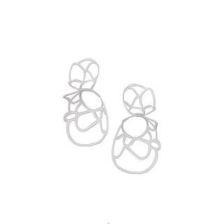 Double Lace Earring, White