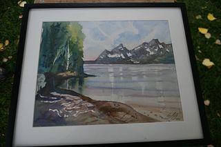 "Eliot Goss - ""Lakeview Picnic Area, Jackson Lake"""