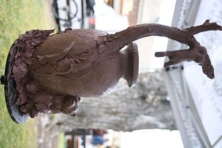 """Rip & Alison Caswell - """"Hanging in There"""" Bronze Cast 2"""