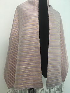 Handwoven Shawl of Hand-dyed Silk