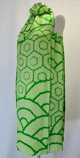 Shibori Green Dress