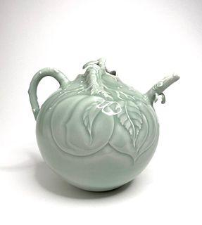 Celadon Peach Tea Pot