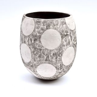 Coil Bowl with Sgraffito, Circles, and Squares