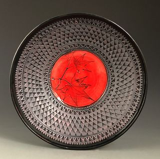 Japanese Maple Cameo Bowl in Poppy Red
