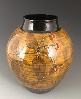 Large Tickseed Vase in Dark Iron