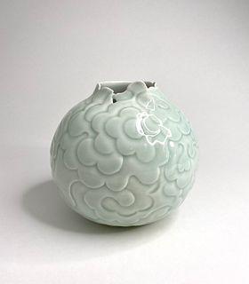 Celadon Cloud vase #1