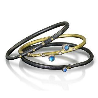 Twig Bracelet, Blue Moonstone Autus series set