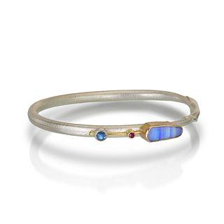 One of  kind Opal twig bracelet - pastel colors. Size large