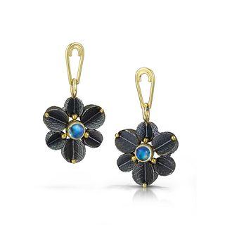 Urban Blossom Blue Moonstone Earrings