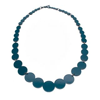 13pc Pearl Necklace in teal