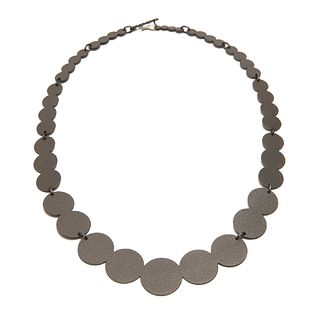13pc Pearl Necklace in slate grey