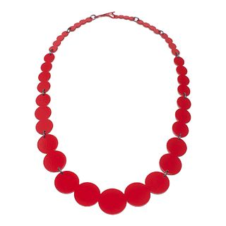 13pc Pearl Necklace in red