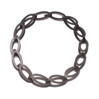 14pc Oval Chain in dark grey gradient
