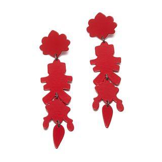 Chandelier MAX 09 Earrings in red