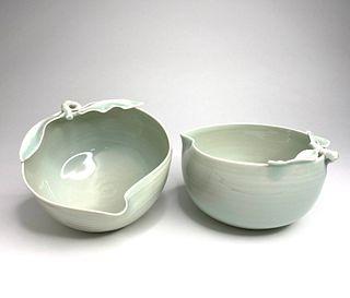 Celadon Peach Bowls