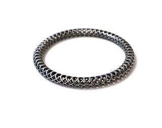 Woven Silver Bangle