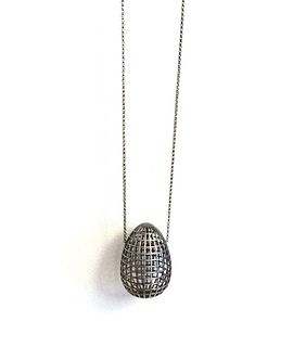 Grid Egg Pendant