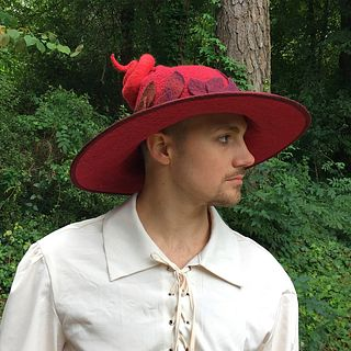 'Falling Leaves' Witch or Wizard Hat - Red
