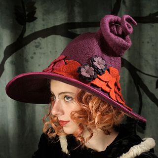 'Falling Leaves' Witch or Wizard Hat - Purple
